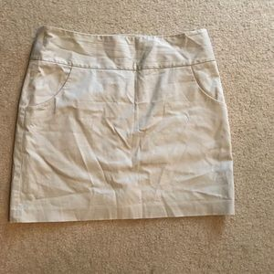 Size 12 lined, khaki skirt from The Limited.
